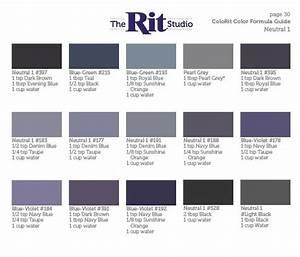 Neutral 1 Rit Dye Colors Chart How To Dye Fabric Diy Dye