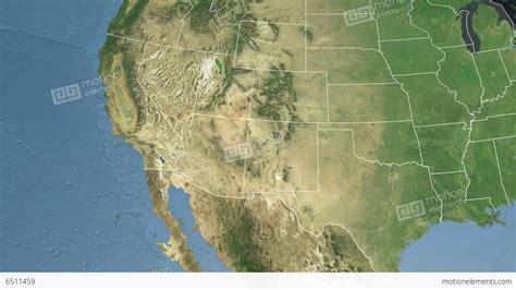 Arizona State Usa Extruded Satellite Map Stock