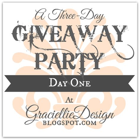 Giveaway Party Day 1  Haj Design Papers
