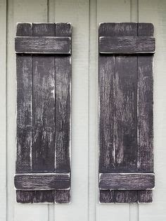 Rustic Exterior Wood Shutters Hand Forged Clavos
