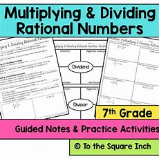 Multiplying And Dividing Rational Numbers Notes By Katembee  Us Teacher Lessons Tes