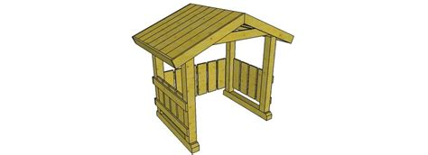 outdoor nativity open stable plans  ebay
