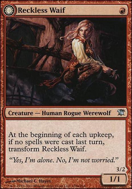 mtg waif werewolf deck reckless decks aggro tappedout modern fangor loading close innistrad mdn