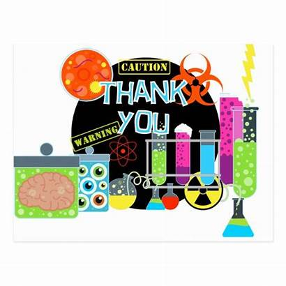 Thank Scientist Mad Postcard Science Cards Party