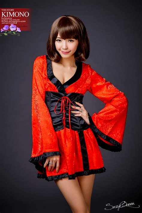 Osharevo Puffy Nipples Straining Cosplay Cheongsam China Clothes Separate Corset Oiran Kimono