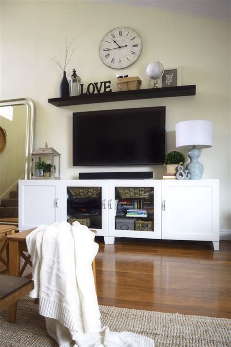 Small Bedroom Tv Reviews by Our Somewhat Ikea Hacked Entertainment Center And An