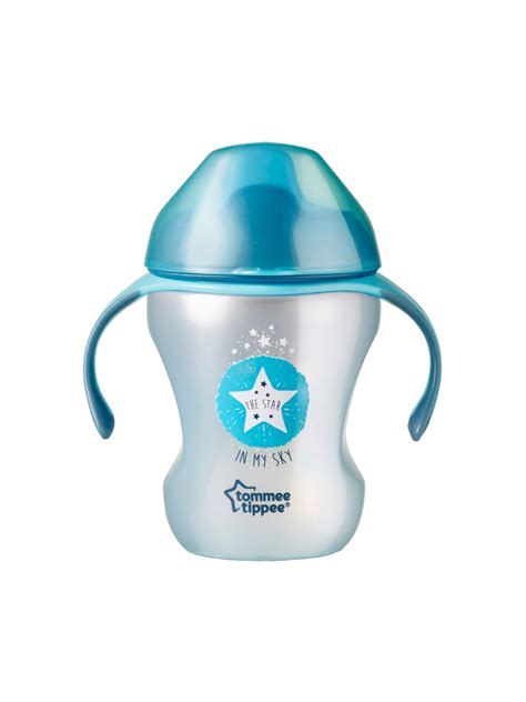 tommee tippee easy drink learning 6 months and 230ml colour blue