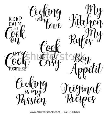 quotes about kitchen design quotes tea typography set calligraphy stock 4480