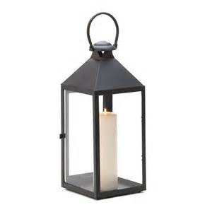 revere classic large matte black indoor outdoor candle lantern