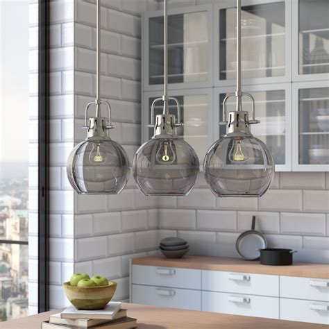 kitchen island light pendants brayden studio burner 3 light kitchen island pendant 5100