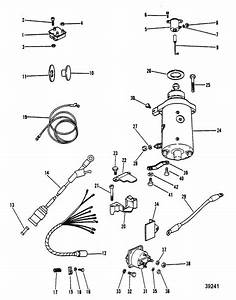 Mercury Marine 40 Hp  2 Cylinder  Starter Motor  Rectifier  U0026 Wiring Harness  Electric Only  Parts