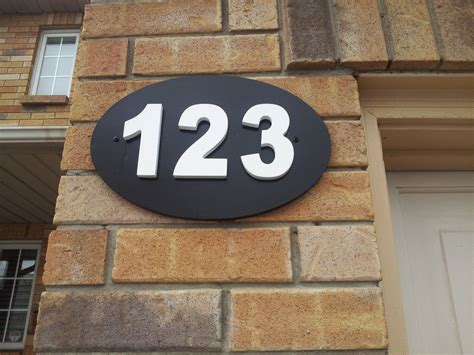 outdoor house number plaque house numbers house number