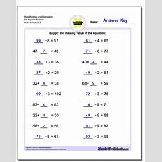 Addition And Subtraction Prealgebra Worksheets