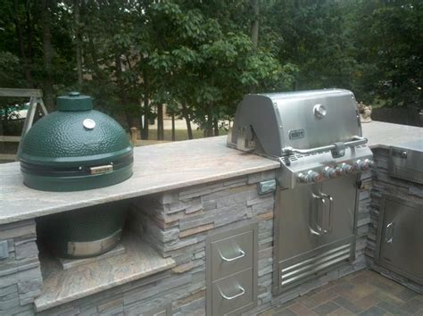 green egg built in outdoor kitchen front renovation outdoor kitchen white plains md 8351