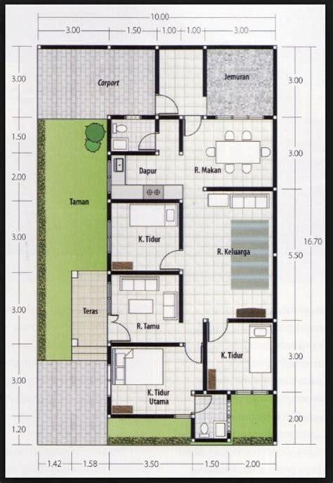 denah rumah  lantai  kamar desain rumah minimalis