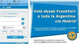 Frankfurt Madrid Buenos Aires, en Aerolíneas Argentinas Viajo por Europa