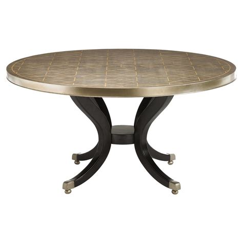gold round dining table mila regency gold stencil round wood dining table kathy