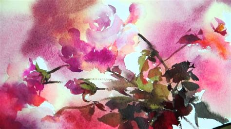 watercolor rhythm  flowers   phatcharaphan