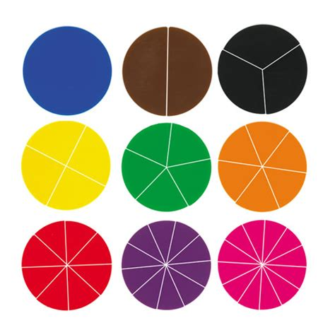 deluxe fraction circles blank  sets    tub