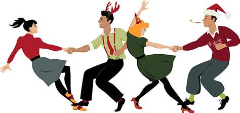 christmas dancing clipart collection