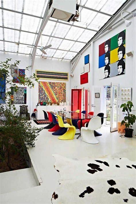 house tour a pop inspired atrium home