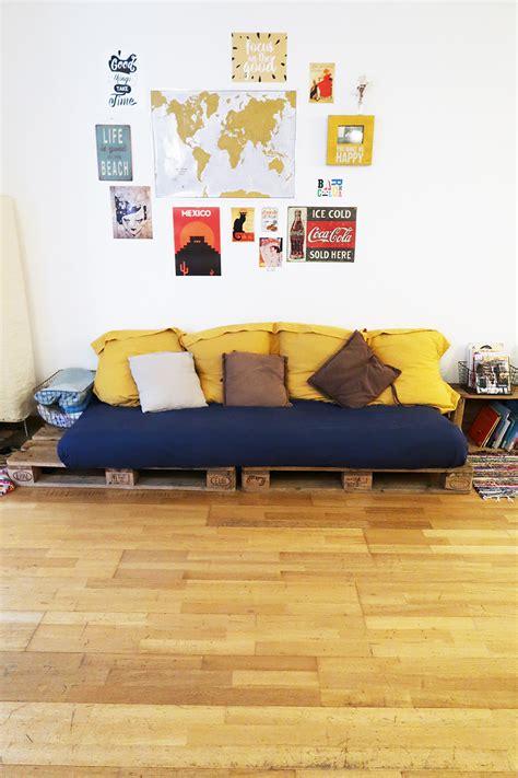 fabriquer canapé fabriquer canapé en palette déco babymeetstheworld