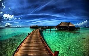 wallpaper proslut: Flyover Beach Nature HD Widescreen ...