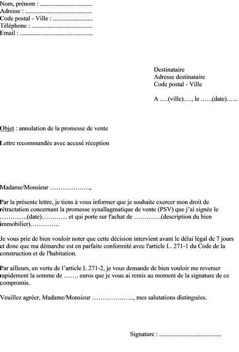 modele de lettre substitution compromis de vente compromis de vente maison mod 232 le avie home