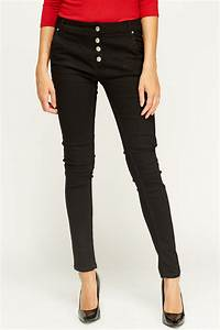 Button Up Black Jeans - Just u00a35