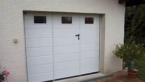 Porte Garage Sectionnelle Avec Portillon : porte sectionnelle avec portillon youtube ~ Melissatoandfro.com Idées de Décoration