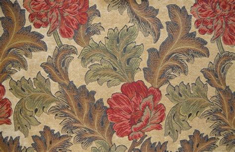 Traditional Floral Woven Upholstery Fabric Livingstone
