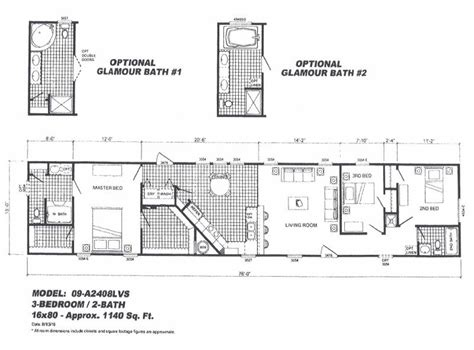 16x80 Mobile Home Floor Plans by 16x80 Mobile Home Floor Plans Cavareno Home Improvment