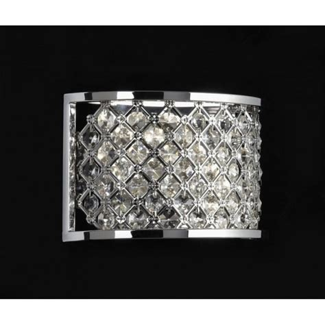 endon hudson 2wbch wall light hudson 2 light crystal