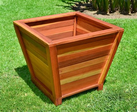 redwood planter plans diy free rolling work table
