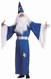 Blue magician costume for men