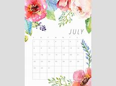 Free Printable 2018 Floral Calendar The Cottage Market