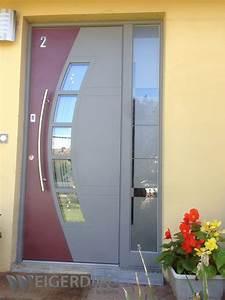 Barre De Porte D Entrée : r alisations de porte d 39 entr e aluminium weigerding ~ Premium-room.com Idées de Décoration