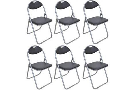 chaises pliantes pas cher lot de 6 chaises pliantes noires piga design pas cher sur