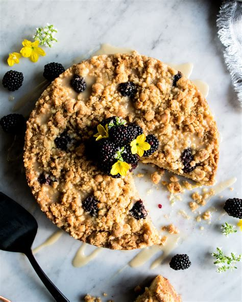 Do you grown any plants in your backyard? Blackberry Zucchini Coffee Cake with Honey Glaze - The ...