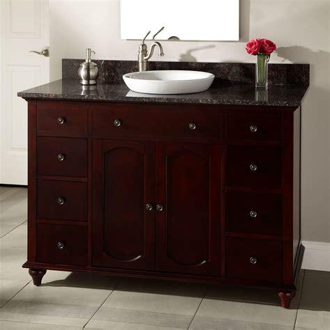 cherry bathroom vanity 60 quot silva cherry vanity for semi recessed sinks