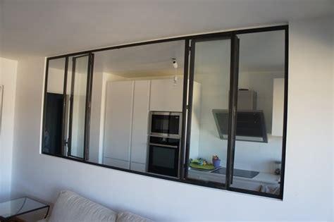 hotte de cuisine plafond verrière et cloison atelier d 39 artiste pour une cuisine ou