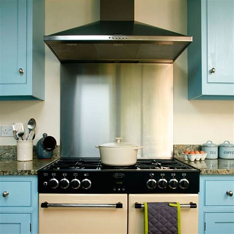 Stainlesssteel Splashback  Be Inspired By This Blue