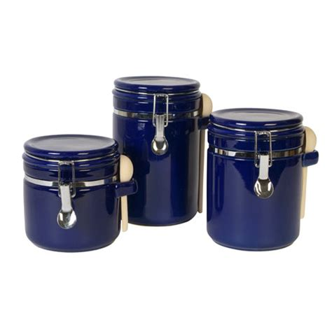 black kitchen canisters sensations ii 3 canister set cobalt kitchen