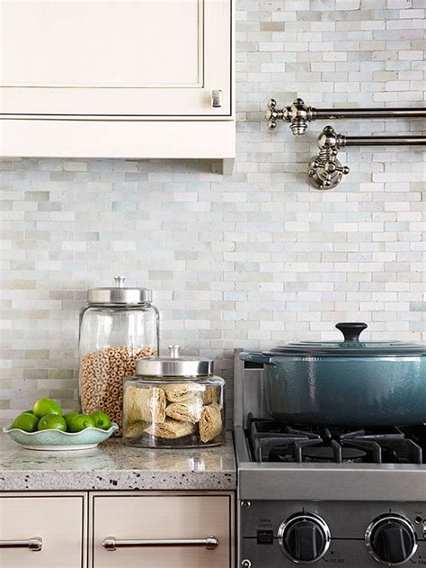 neutral backsplash  homes gardens