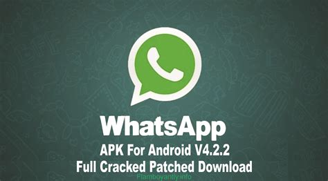 whatsapp apk for android v4 2 2 cracked patched