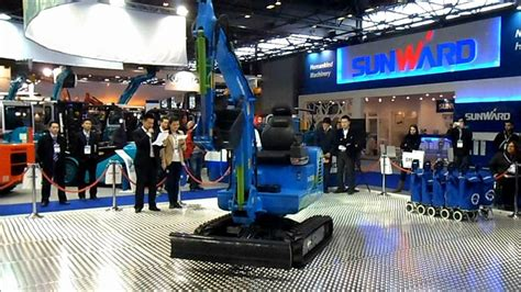 sunward electric remote control mini excavator  intermat  youtube