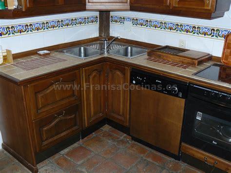 muebles de cocina rustica madera pino franisa cocinas