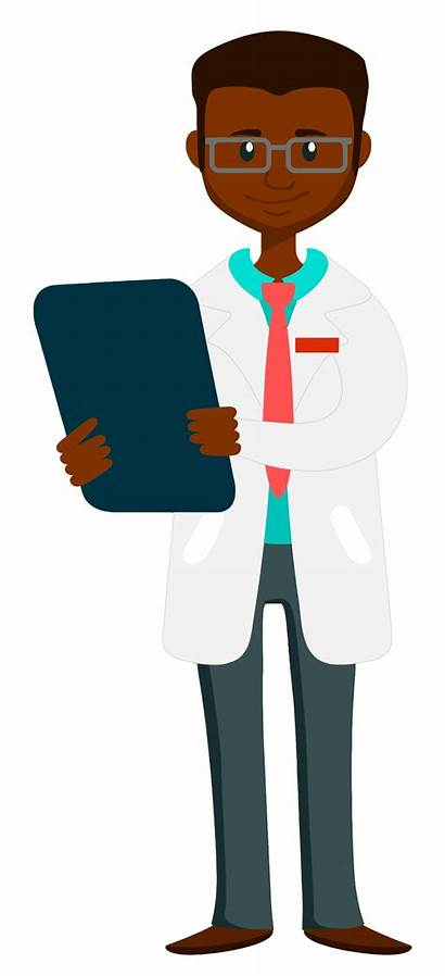 Doctor Clipart Computer Clipboard Holding African Transparent