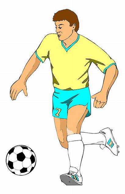 Football Player Clipart Sports Running Retro Clipartion