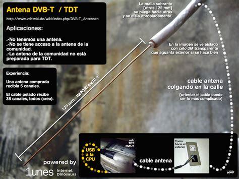 Antena TDA super re barata (solo con cable) Hazlo tu
